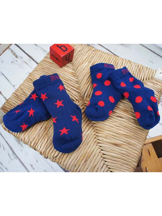 navy red socks