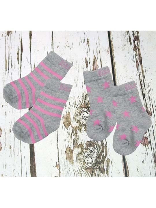 pink grey socks